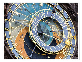 Premium poster  Astronomical clock Prague - Jan Christopher Becke