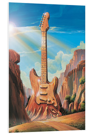 Foam board print  Guitar Rock - Georg Huber