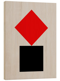 Wood print  SUPREMATISM - THE USUAL DESIGNERS