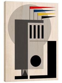 Wood print  Bauhaus Dreaming - THE USUAL DESIGNERS