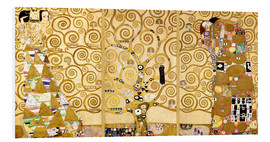 Foam board print  The tree of life (Detail) - Gustav Klimt
