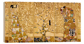 Wood print  The Tree of Life (Complete) - Gustav Klimt