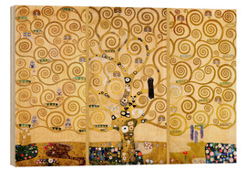 Wood print  The tree of life - Gustav Klimt