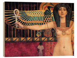 Wood  Ancient Egypt (Isis, Zwickel image) - Gustav Klimt
