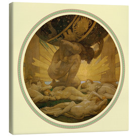 Canvas print  Atlas and the hesperides  - John Singer Sargent