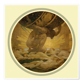 Premium poster  Atlas and the hesperides - John Singer Sargent