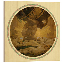 Wood  Atlas and the hesperides  - John Singer Sargent