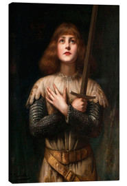 Canvas print  Joan of Arc - Paul Antoine de la Boulaye