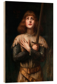 Wood print  Joan of Arc - Paul Antoine de la Boulaye