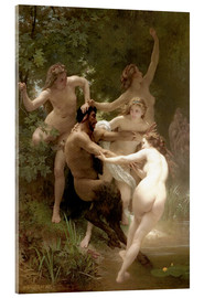 Acrylic print  Nymphs and Satyr - William Adolphe Bouguereau