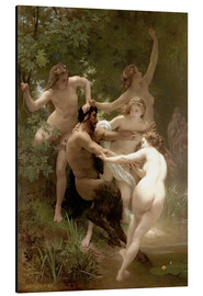 Aluminium print  Nymphs and Satyr - William Adolphe Bouguereau