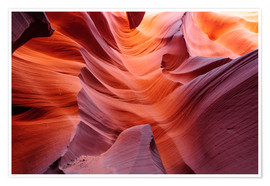 Premium poster  Glowing Passage in Lower Antelope Slot Canyon, Page, Arizona, USA - Peter Wey