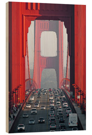 Wood print  Golden Gate Bridge, San Francisco, USA - Peter Wey