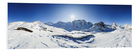 Peter Wey - 360 degree mountain panorama from Riffelberg above Zermatt with Monte Rosa and Matterhorn in Winter