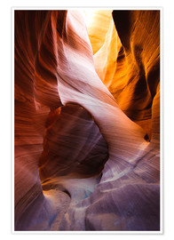 Premium poster Lower Antelope Slot Canyon, Page, Arizona, USA