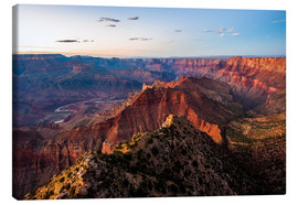 Canvas print  Sunset scenery from Grand Canyon South Rim, Grand Canyon National Park, USA - Peter Wey
