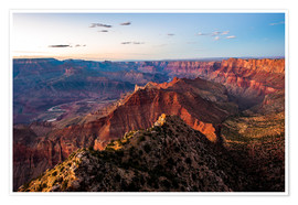 Premium poster Sunset scenery from Grand Canyon South Rim, Grand Canyon National Park, USA