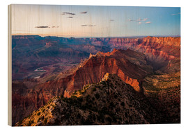 Wood print  Sunset scenery from Grand Canyon South Rim, Grand Canyon National Park, USA - Peter Wey