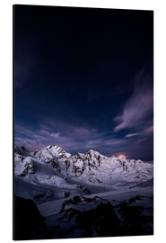 Aluminium print  Diavolezza moonset by night, Engadin, Switzerland. - Peter Wey