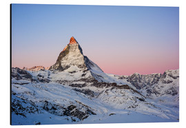 Aluminium print  Matterhorn at sunrise, view from Gornergrat, Zermatt, Valais, Switzerland - Peter Wey
