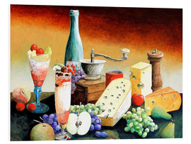 Forex  Stil life with coffee grinder, fruits and cheese - Gerhard Kraus