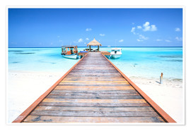 Matteo Colombo - Pier to tropical blue sea, Maldives
