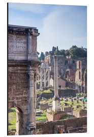 Aluminium print  Ruins of the ancient roman forum - Matteo Colombo