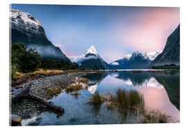 Acrylic print  Sunrise at Milford Sound, NZ - Matteo Colombo