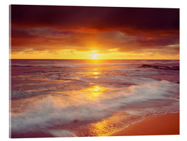 Acrylic print  Sunset on the Pacific - Jaynes Gallery