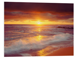 Foam board print  Sunset on the Pacific - Jaynes Gallery