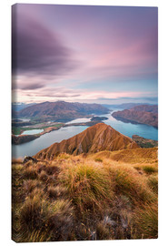 Canvas print  Awesome sunset over Wanaka lake from Mt Roy, Otago, New Zealand - Matteo Colombo