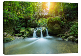 Canvas print  romantic waterfall - rclassen