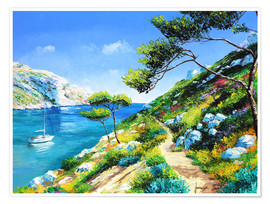 Poster  Walking in the cove - Jean-Marc Janiaczyk