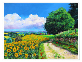 Premium poster Sunflowers season