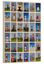 Wood print  Lighthouses - Sarnade