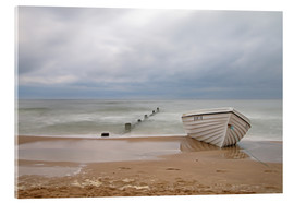 Acrylic print  fishing boat on the Baltic beach - Simone Splinter