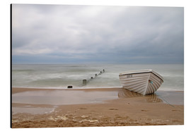 Aluminium print  fishing boat on the Baltic beach - Simone Splinter
