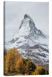 Canvas print  Matterhorn from Riffelalp, Zermatt, Switzerland - Peter Wey