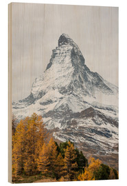 Wood print  Matterhorn from Riffelalp, Zermatt, Switzerland - Peter Wey