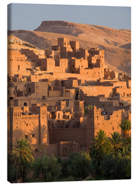 Canvas  Kasbah Ait Benhaddou, near Ouarza - Lee Frost