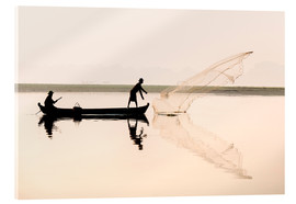 Acrylic glass  Fishermen on the lake Taungthaman - Lee Frost