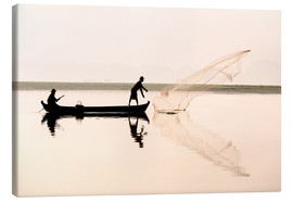 Canvas  Fishermen on the lake Taungthaman - Lee Frost