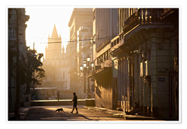 Premium poster Road at dawn, Havana