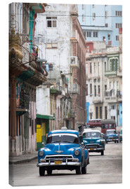 Canvas  Taxis in the Colon Avenue, Cuba - Lee Frost