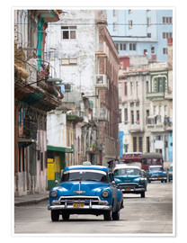 Poster  Taxis in Avenue Colon, Cuba - Lee Frost