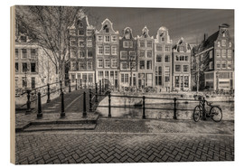 Wood print  The quiet of Amsterdam - Scott McQuaide