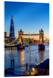 Acrylic print  The Tower Bridge at dusk - Charles Bowman