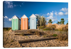 Canvas  Colorful beach huts in Brittany (France) - Christian Müringer