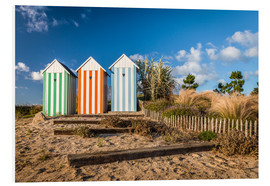 Foam board print  Colorful beach huts in Brittany (France) - Christian Müringer