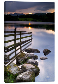 Canvas  Loughrigg Tarn in England - Jeremy Lightfoot
